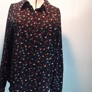 NWT cAbi ferris button up blouse size large